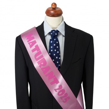 Maturitná šerpa ružová - saténová