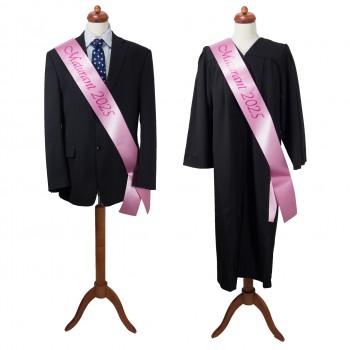 Maturitní šerpa růžová - saténová